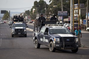 Una patrulla en Lázaro Cárdenas.